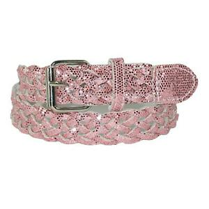 New CTM Girls' Metallic Braided Belt