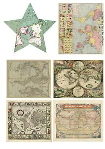 A3 Size - World Map Antique Vintage Old Ancient Poster Decoration wall chart