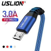 3A Braided Micro USB Charger Cable Fast Charging Cord For Samsung Tablet Android