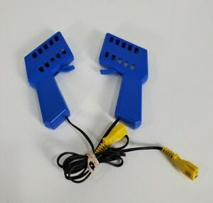 Hot Wheels Mattel HO Scale 14V Power Supply model 8610S and 2 blue Controllers