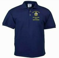 USS HOLLAND   AS-32 NAVY ANCHOR EMBROIDERED LIGHT WEIGHT POLO SHIRT