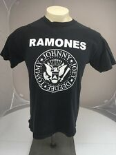 Vintage 1989 RAMONES presidential seal punk rock band tshirt M Black USA
