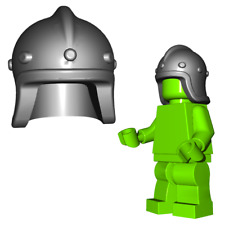 Custom ARCHER HELM Medieval for Lego Minifigures Knights -Pick your Color!-
