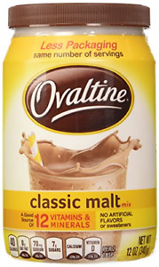 Nestle Ovaltine Classic Malt Beverage, 12 Ounce Canisters
