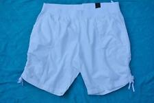 AUTOGRAPH White Cotton Comfort Shorts Size 26 NEW rrp$39.99 Tie Sides Rib Waist.