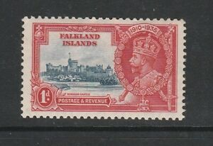FALKLAND ISLANDS 1935 SILVER JUBILEE 1d SG139 LIGHTLY MOUNTED MINT