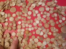 LOTE 100 UDS FÓSILES FÓSIL FOSSIL NUMMULITEs tipo ammonite amonite nummulites