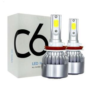 C6 LED Headlight Globe Kit Hi Low Beam LED Globe Conversion - H11