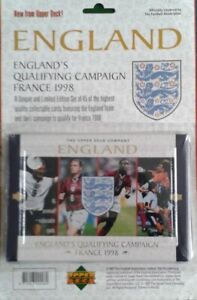 UPPER DECK ENGLANDS QUALIFYING CAMPAIGN FRANCE 1998 LIMITED EDITION SET 45 CARDS