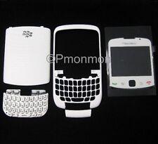 White Housing Faceplate/Screen Lens/Door/Keypad for Blackberry Curve 3G 9300