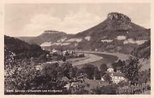 AK Liliental re pietra ELBA GEL. 1957 Sächsische Svizzera pirma Bad Schandau