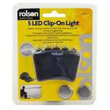 Rolson 61735 5 led with clip light super bright hands free head torch camping