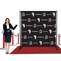 8'x 8'ft Heavy-Duty Telescopic Banner Backdrop Stand Trade show hardware