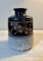 Vintage Studio Art Pottery Ceramic Vase Jar ~ SIGNED