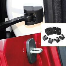 Car Door Striker Lock Protector+Check Arm Cover For Citroen C4 DS Peugeot 308
