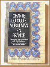 CHARTE DU CULTE MUSULMAN EN FRANCE Dr Dalil Boubakeur - Islam Spiritualité
