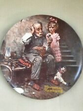 Vintage Norman Rockwell The Cobbler Collector Plate #8,882Q w Box & Papers