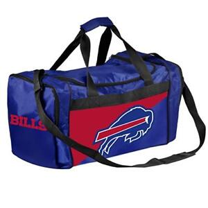 Buffalo Bills Duffle Bag Gym Swimming Carry On Travel Luggage Tote NEW - 2 Tone
