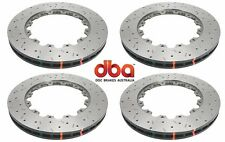 DBA FRONT AND REAR DRILLED & SLOTTED BRAKE ROTORS FOR 2009-2011 NISSAN GT-R R35