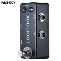 MOSKY Loop Box Mini Guitar Effect Pedal True Bypass Looper Route Selection