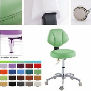 Microfiber Leather Dental Doctor's Chair Stools Medical Adjustable Mobile Chair