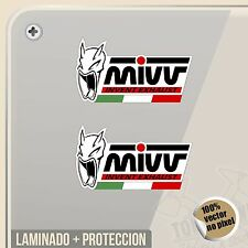 STICKER MIVV EXHAUST MARMITTE BANDIERA ITALIA VINILE DECAL ADESIVI