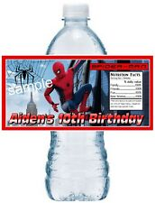 20 SPIDERMAN BIRTHDAY PARTY FAVORS Water Bottle Labels - waterproof ink
