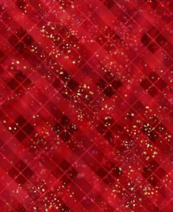 Gingerbread Lane: Red Plaid Texture- Hoffman Sold by the Yard