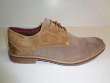 Ben Sherman Size 13 ABRAM Tan Suede Oxfords New Mens Shoes