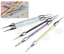 5pcs 2 Way Crystal Nail Art Dotting Painting Pen Manicure Tools Paint Dot Set
