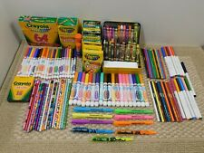 Huge lot of Crayola Crayons Colored Pencils Markers School Supplies