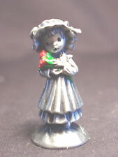 Little Gallery Pewter Figurine - BOUQUETS TO YOU  - Mary with Flowers - MIB