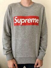 Supreme Fashion Italy Sweatshirt, Raglan Gr. L, Grey, Boxlogo, Slim-Fit