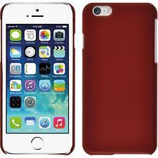 Coque Rigide Apple iPhone 6s / 6 - gommée rouge + films de protection