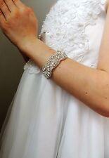 Baby rhinestone beaded bracelet event christening baptism party flower girl