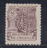 ESPAÑA (1944) NUEVO SIN FIJASELLOS MNH SPAIN -EDIFIL 981 (40 cts) CASTILLA LOTE1