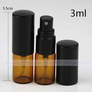 3ml 5ml 10ml Amber Spray Glass Bottle with Refillable Sprayer Perfume Portable