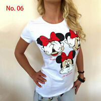 T Shirt Womens Micky Minnie Short Sleeve Tee Girl Tops Casual Loose Blouse Top