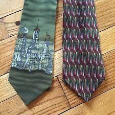 J. Garcia Silk Tie Nevsky Drummers 2 Piece Lot Necktie FREE SHIPPING grateful