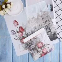 20pcs Flower Pattern Decoupage Napkin Paper Tissue for Xmas Wedding Decor OZ