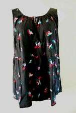WOMEN'S PLUS SIZE 1X 16W EVRI FLOWING SUMMER TANK BIRD BLOUSE CLOTHING - NEW