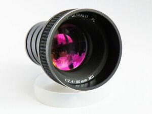 Projektionsobjektiv Braun Ultralit PL 2,4/90 MC Profi Line für Diaprojektor