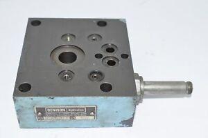 Parker Denison S23-12734-0 S/N 4377 Hydraulic Manifold Valve Part