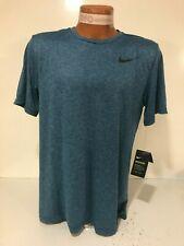Nike Dri-Fit Breathe Training Running Shirt Top AT3737 407 Men's M Blue New