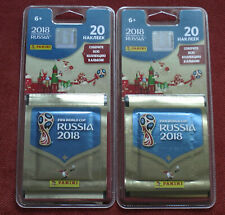 40 Stickers Panini in 2 blisters FOOTBALL WORLD CUP 2018 RUSSIA