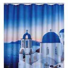 RIDDER Bathroom Shower Curtain Santorini Washable 180x200cm Water Resistant