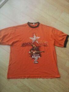 Vintage 1996 bryan adams Band Tee T-shirt Top ringer shirt XL 18 til i die tour