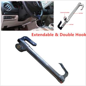 Car Truck  Extendable Double Hook Steering Wheel Lock Anti Theft Brake Clutch