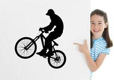 MTB DH Bicicleta Jinete Pegatina Extraíble Pared Adhesivo mural GB Decoración