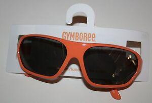 New Gymboree Boys 2-4 years Orange Rectangular Sunglasses Sporty Plastic